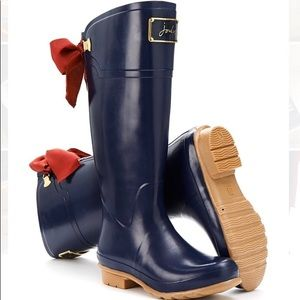 NWT Joules French Navy Evedon Welly Rain Boot $165